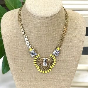 Stella & Dot Yellow and Gold Norah Necklace